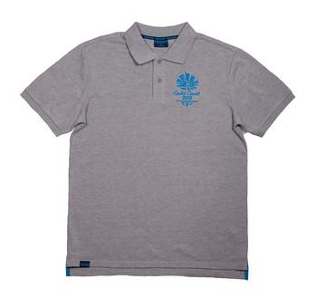 1 Colour Men's Emblem Pique Polo Grey Marle Image
