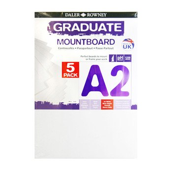 A2 Graduate Mountboard 5 pack Ice White