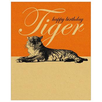 Card - Happy Birthday tiger