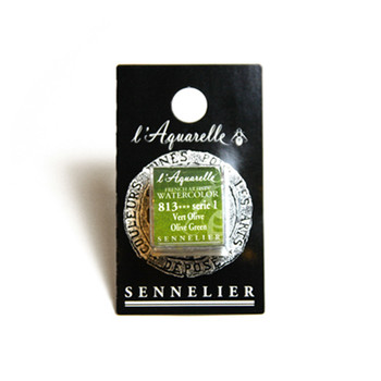 Sennelier Watercolour 1/2 Pan S1 - Olive Green