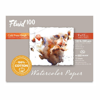 Fluid 100 Watercolour Pad Cold Press 640gsm 9 x 12