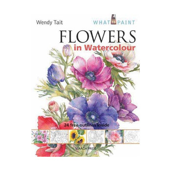 Flowers in Watercolour Art Book