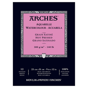 Arches Glued Pad Smooth 300gsm 23x31cm