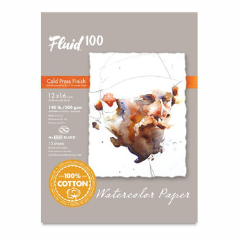 Fluid 100 Watercolour Pad Cold Press 640gsm 12 x 16