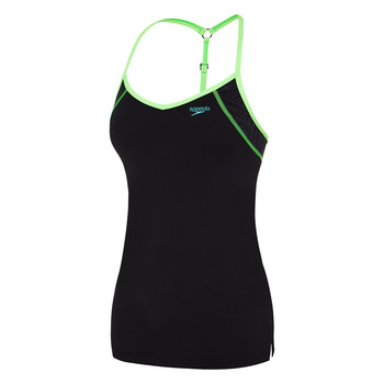 Womens Acid Nature Y Back Tankini Top