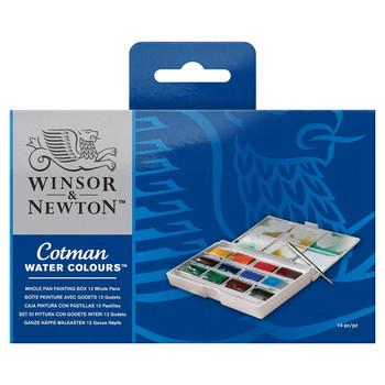 Cotman Watercolour Whole Pan Painting Box