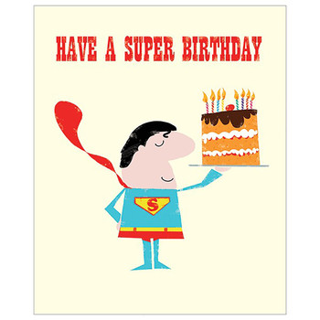 Card - Happy Birthday superman