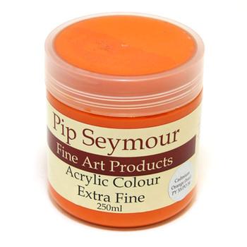 Pip Seymour Acrylic Cadmium Orange Hue 250ml (S1)