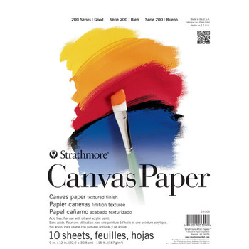 Strathmore Canvas Paper Pad 187g 9