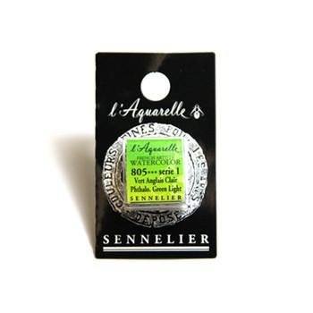 Sennelier Watercolour 1/2 Pan S1 - Phthalo. Green Light