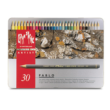 Pablo Colour Pencil Metal Tin With 30 Assorted Colours