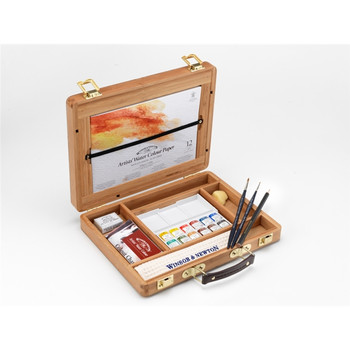 Artists' Watercolour Half Pan Bamboo Box