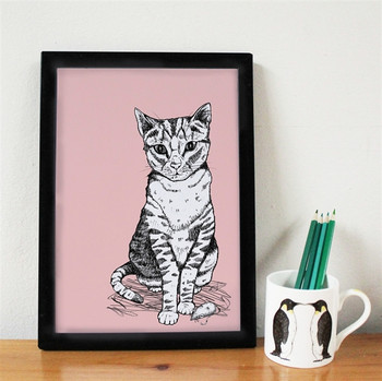 Tally Tabby Cat Print