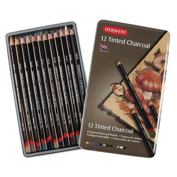 Derwent 12 Tinted Charcoal Tin