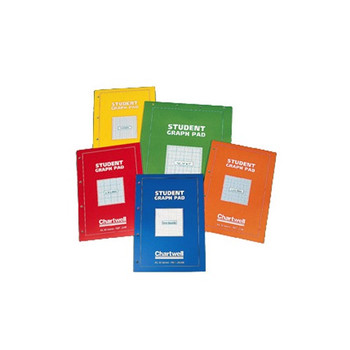 Frisk Student Graph Pad A4 50s (Red Cover) Grid Size 2, 10 & 20mm