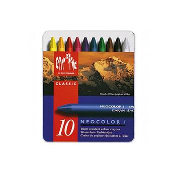 Caran D'Ache Neocolor II Water-Soluble Wax Pastels Metal Tin 10