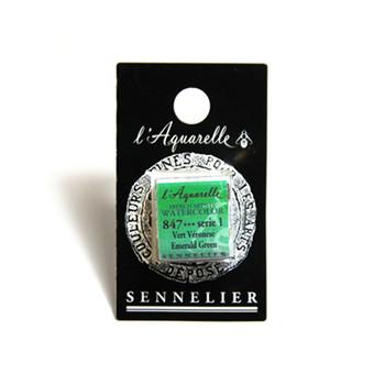 Sennelier Watercolour 1/2 Pan S1 - Emerald Green