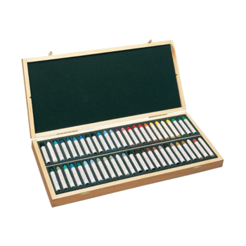 Sennelier Set x 50 Pastels Assorted Wooden Box
