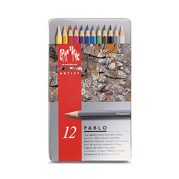 Pablo Colour Pencil Metal Tin With 12 Assorted Colours