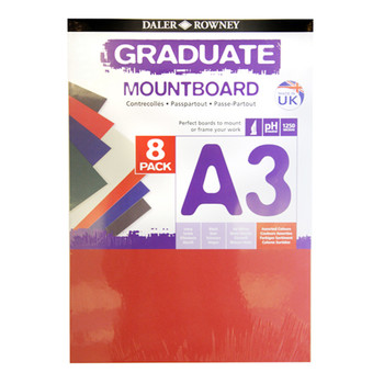 A3 Graduate Mountboard 8 pack Assorted
