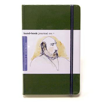 Hand Book Journal Sketchbook 5.5 x 8.25 Large Portrait Cadmium Green