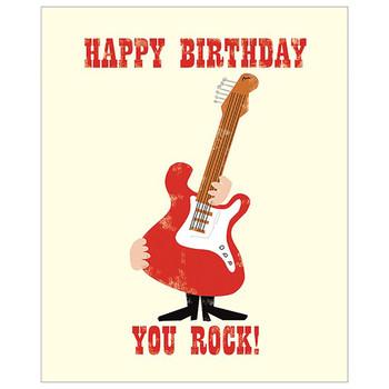 Card - Happy Birthday you rock