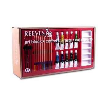 Reeves Art Block acrylic, pencil and pastel set