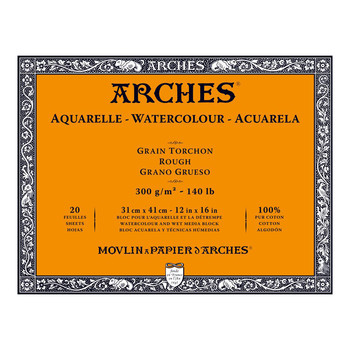 Arches Aquarelle Block Rough 300gsm 12x16