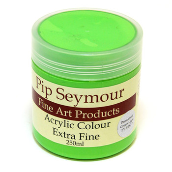 Pip Seymour Acrylic Permanent Green Light 250ml (S1)