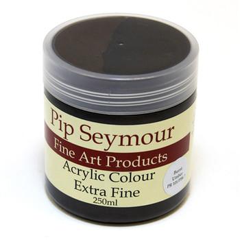 Pip Seymour Acrylic Burnt Umber 250ml (S1)