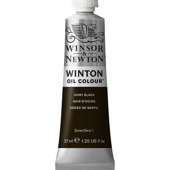 Winton Oil Colour 37ml Ivory Black