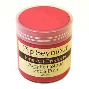 Pip Seymour Acrylic Coral Red 250ml (S2)