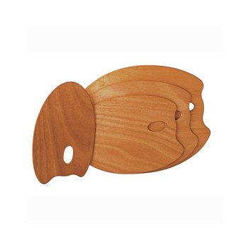 DISC Mabef Oval Wooden Palette 20 X 30cms