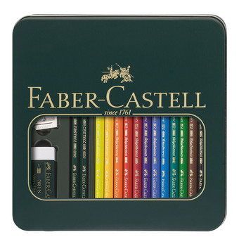 Faber Castell Polychromos And Castell 9000 box set