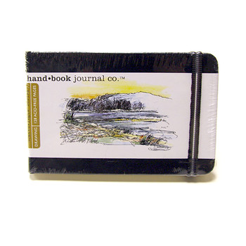 Hand Book Journal Sketchbook 3.5 X 5.5 Landscape Black