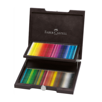 Faber Castell Wenge Wood Case Of 72 Polychromos