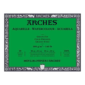 Arches Aquarelle Block (NOT) 300gsm 18x24