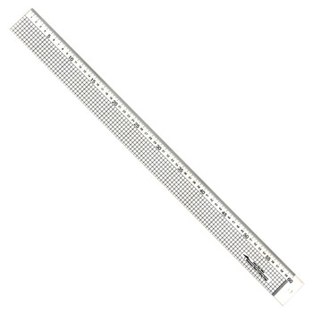Acrylic Ruler with Stainless Steel Edge 60cms