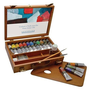 Sennelier Artist Oils Wooden Set