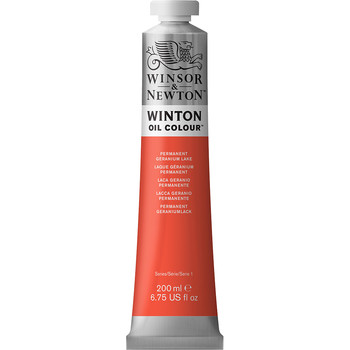 Winton Oil Colour 200ml Permanent Geranium Lake