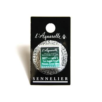 Sennelier Watercolour 1/2 Pan S1 - Phthalo. Green Deep