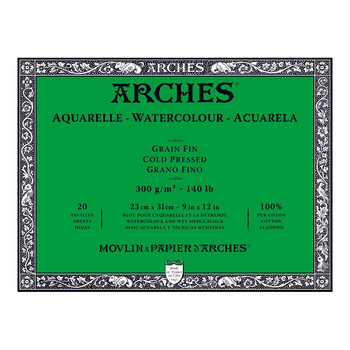 Arches Aquarelle Block (NOT) 300gsm 9x12