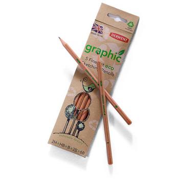 Derwent Eco Sketching Pencils Pack 5