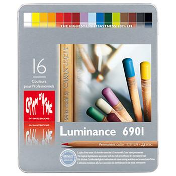 Caran D'Ache Luminance - Metal Tin With 16 Assorted Colours
