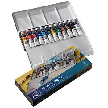 Cotman Watercolour Metal Paint Box Offer Tubes