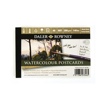 Daler Langton Prestige 100% cotton watercolour postcard pad NOT