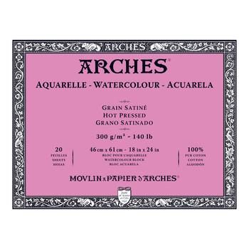 Arches Aquarelle Block Smooth 300gsm 18x24