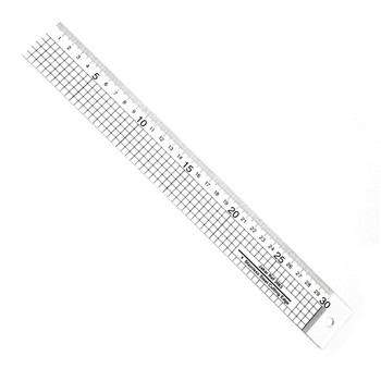 Acrylic Ruler With Stainless Steel Edge 30cm
