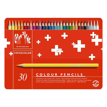 Caran D'Ache Swisscolor - Metal Tin With 30 Assorted Colours