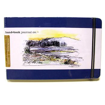 Hand Book Journal Sketchbook 8.25 x 5.5 Large Landscape Blue